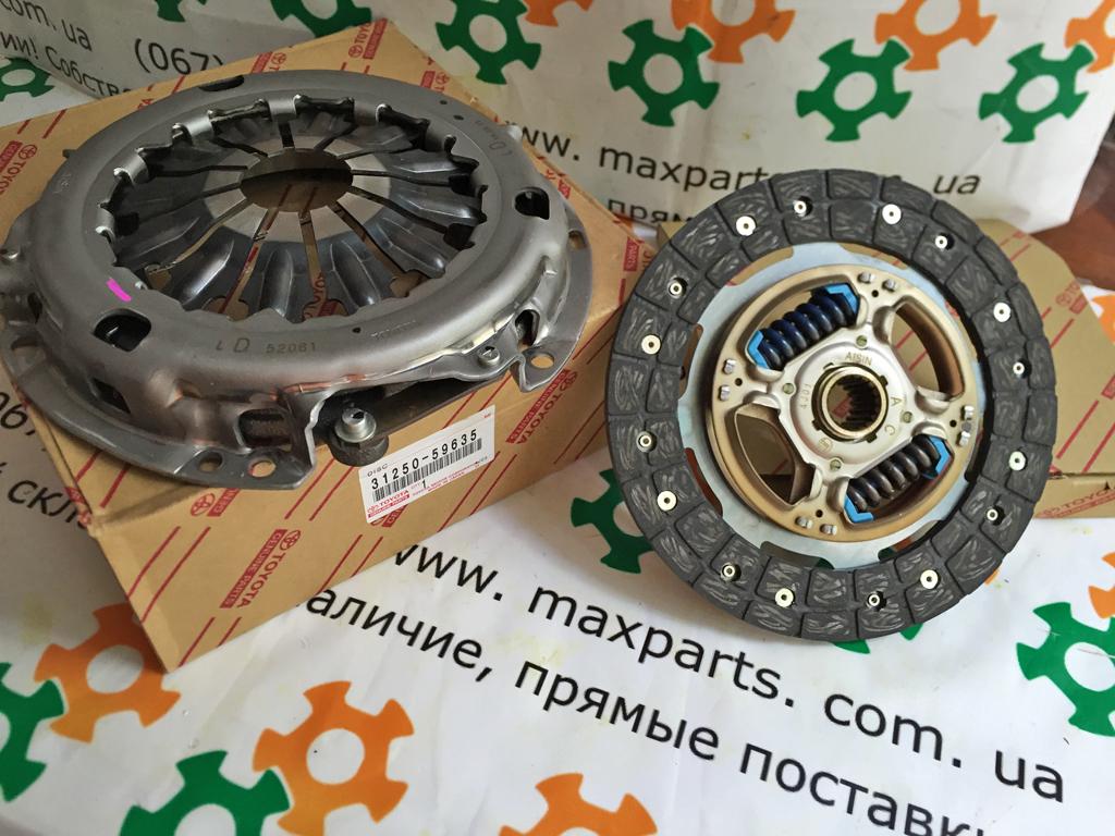 Оригинальный диск сцепления и корзина комплект Toyota Yaris 3125059635 31250-59635