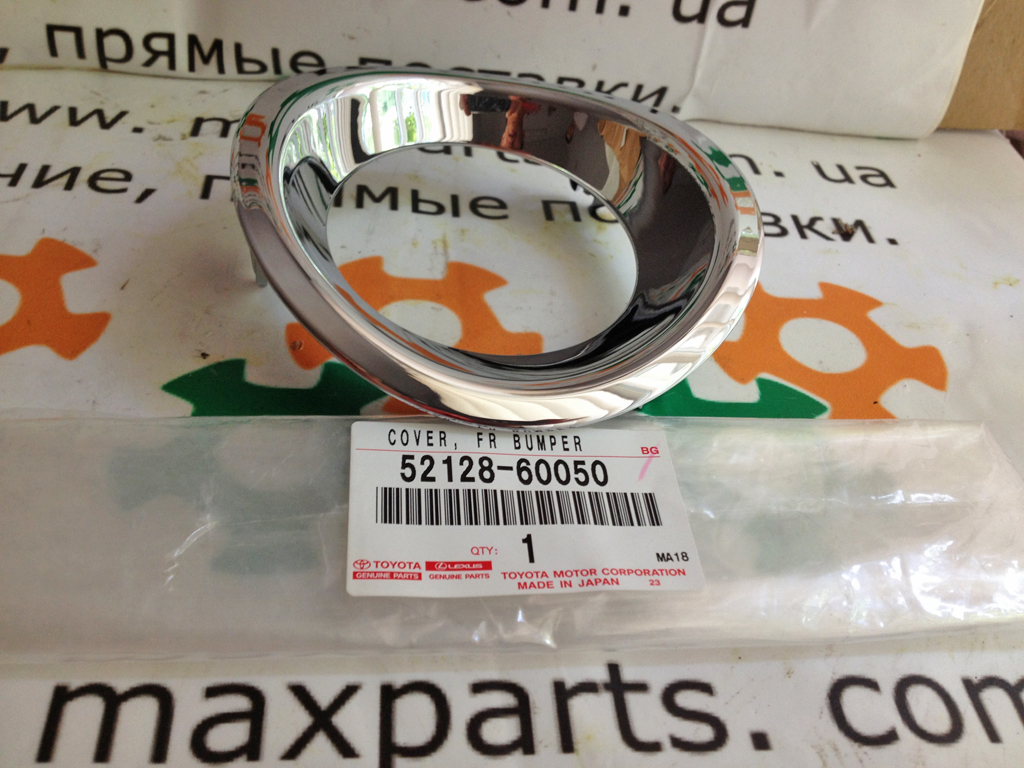 5212860050 52128-60050 Оригинал накладка бампера ПТФ хром заглушка левая Lexus LX 570