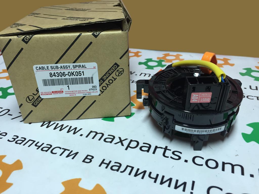 Фото 2 - 843060K051 84306-0K051 Оригинал контактная группа улитка спиральный кабель шлейф подрулевой Toyota Hilux