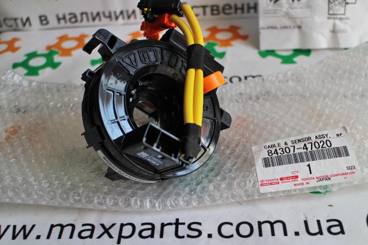 8430747020 84307-47020 Оригинал контактная группа подрулевой шлейф улитка спиральный кабель Toyota Prado 150