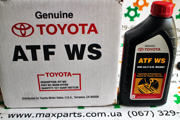 00289ATFWS 00289-ATFWS Оригинал масло трансмиссионное коробка автомат Toyota Lexus USA ATF WS